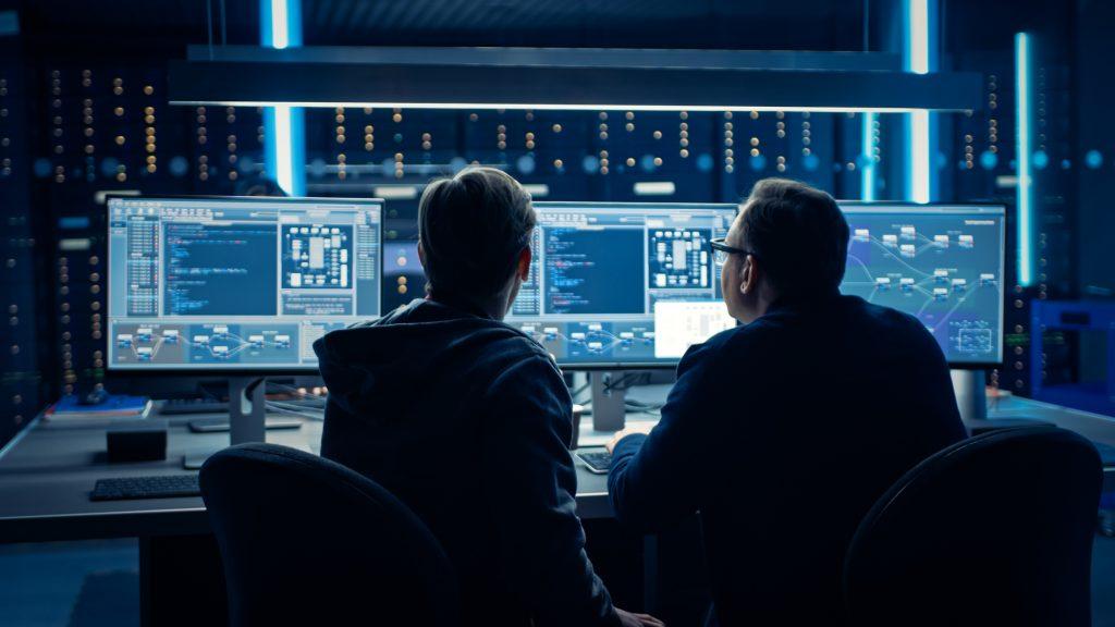 Programmeurs en discussion